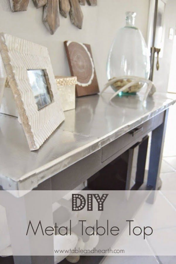 Check out the tutorial on how to make a #DIY steel top table. Looks easy enough! #HomeDecorIdeas