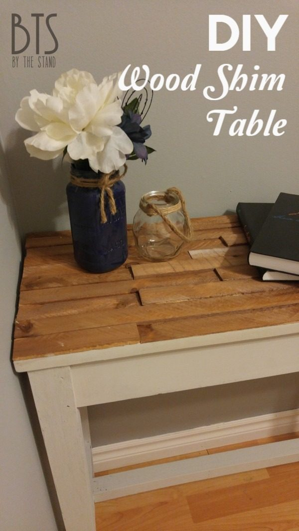 Check out the tutorial on how to make a #DIY wood shim table. Looks easy enough! #HomeDecorIdeas
