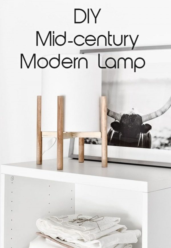 Check out the tutorial on how to make a #DIY mid-century lamp. Looks easy enough! #HomeDecorIdeas