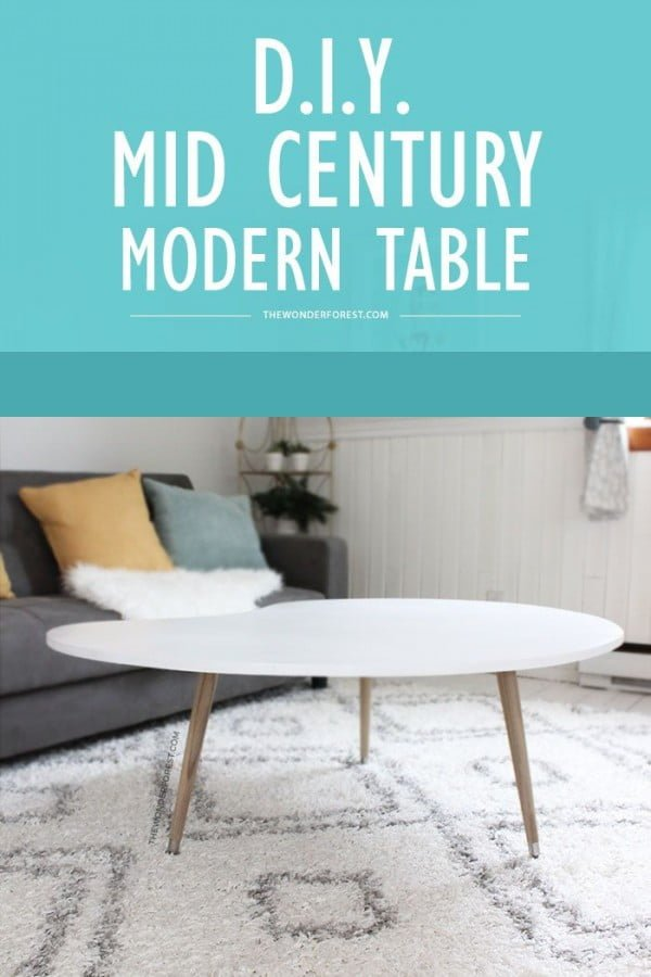 Check out the tutorial on how to make a #DIY mid-century modern coffee table. Looks easy enough! #HomeDecorIdeas