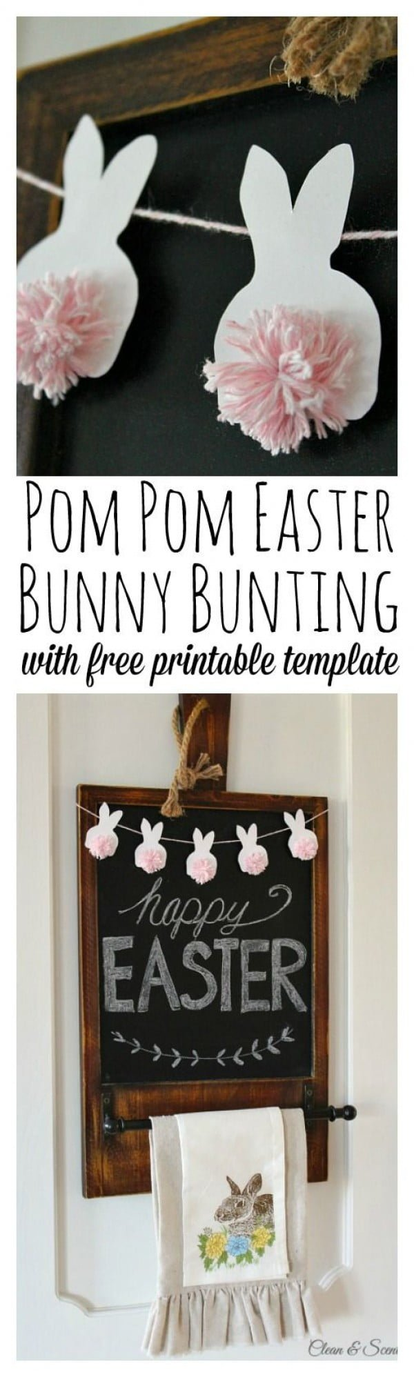 Check out this cute  decor idea with a pom pom Bunny. Love it!