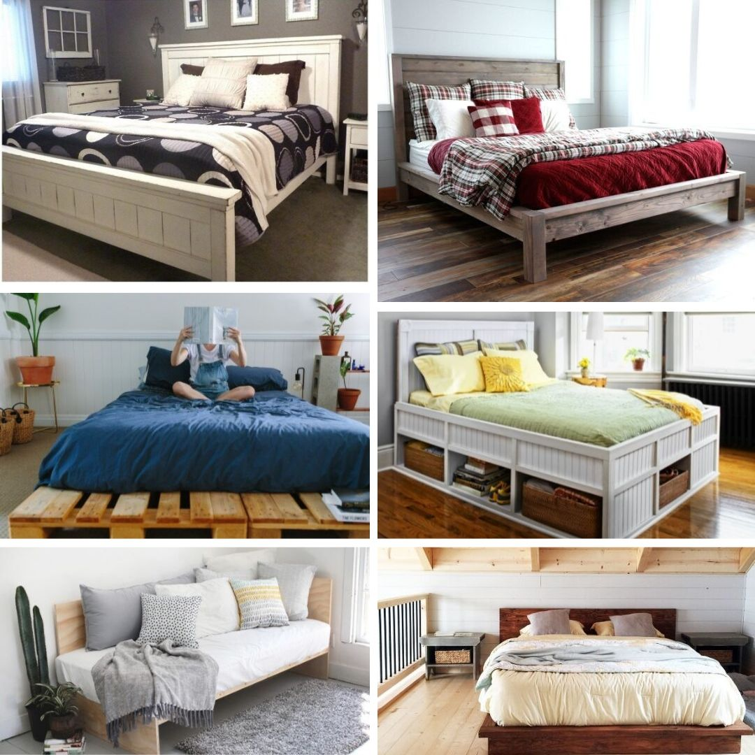 20 Simple Diy King Size Bed Frame Ideas With Plans Flipboard
