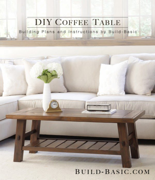 Check out the tutorial on how to make a #DIY basic coffee table. Looks easy enough! #HomeDecorIdeas