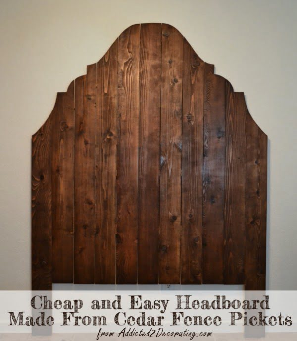 Check out this tutorial on how to make a #DIY repurposed cedar picket fence headboard. Looks easy enough! #BedroomIdeas #HomeDecorIdeas