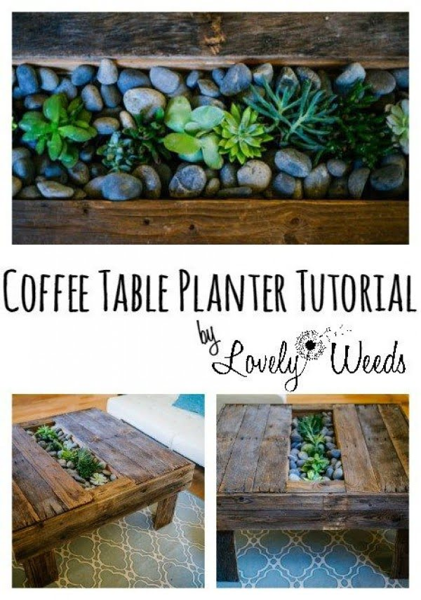 Check out the tutorial on how to make a #DIY coffee table planter. Looks easy enough! #HomeDecorIdeas