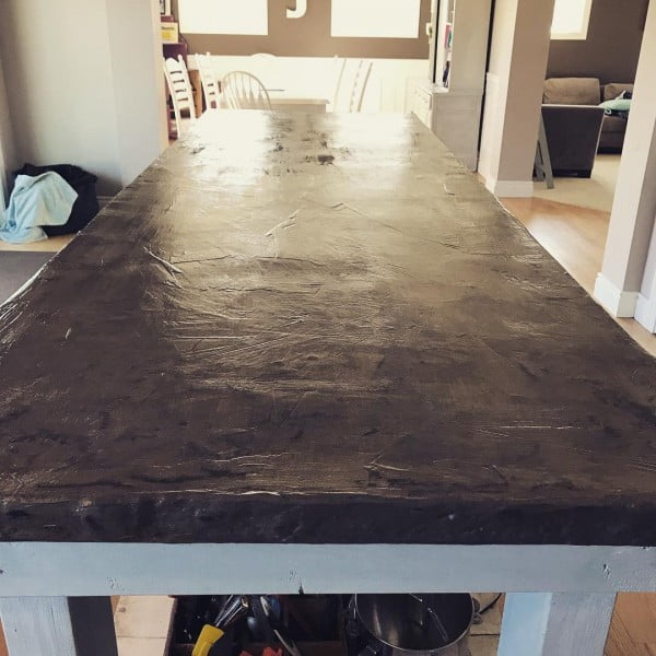 Check Out This Concrete Kitchen Countertop Design. Love It! #HomeDecorIdeas
