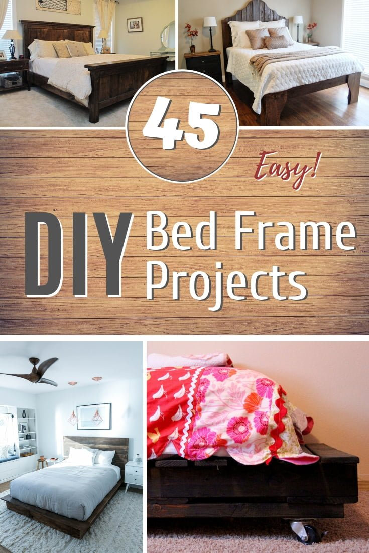 Can you see yourself making a DIY bed frame? It's easier than you thought with these 45 great tutorials #homedecor #DIY #furniture