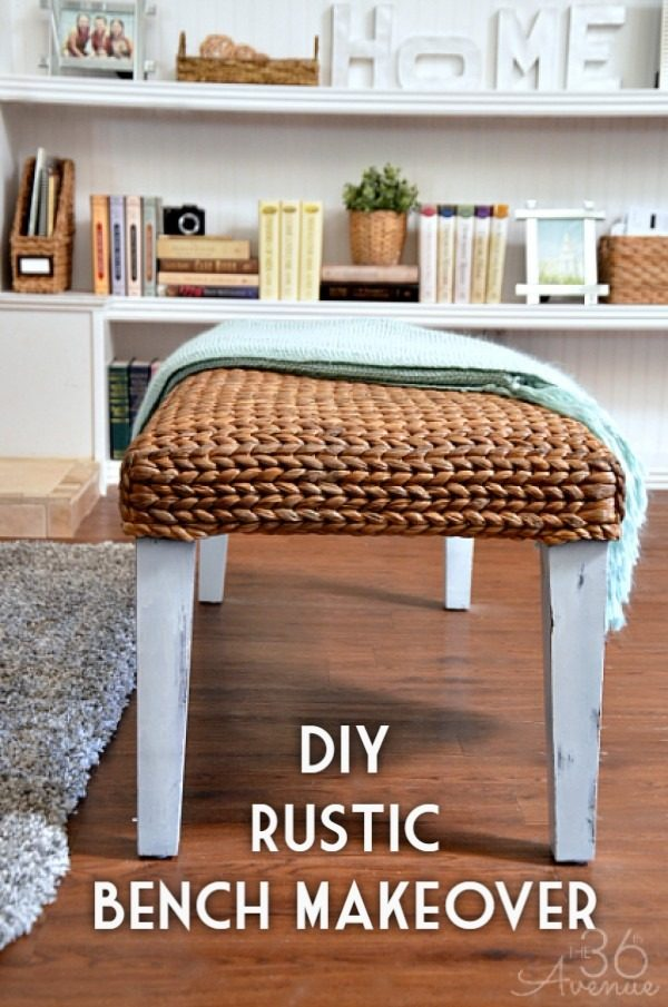 Check out the tutorial on how to make a   bench makeover. Looks easy enough!