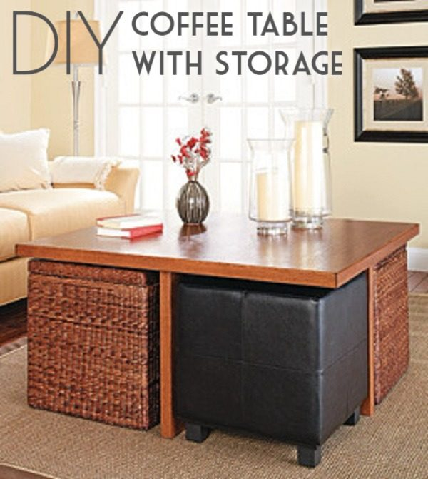 Check out the tutorial on how to make a #DIY coffee table with storage. Looks easy enough! #HomeDecorIdeas