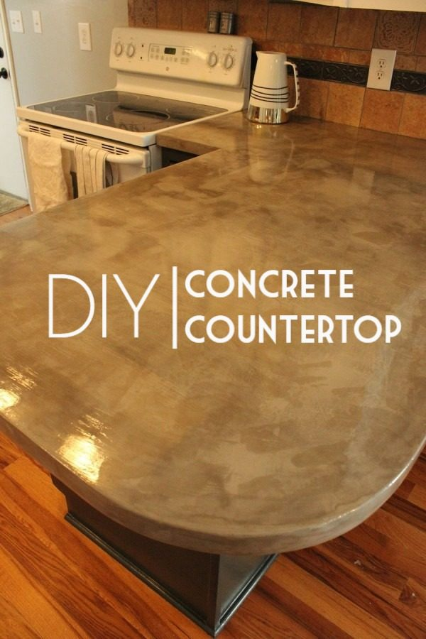 20 Easy Countertop DIY Tutorials to Revamp Your Kitchen - Check out the tutorial on how to make a  concrete underlay kitchen countertop. Looks easy enough!