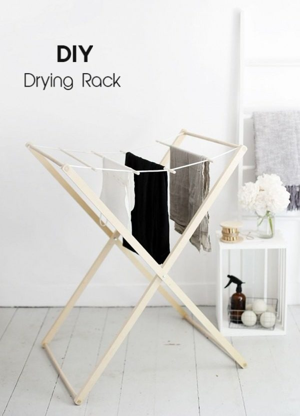 Check out the tutorial on how to make a  drying rack. Looks easy enough!