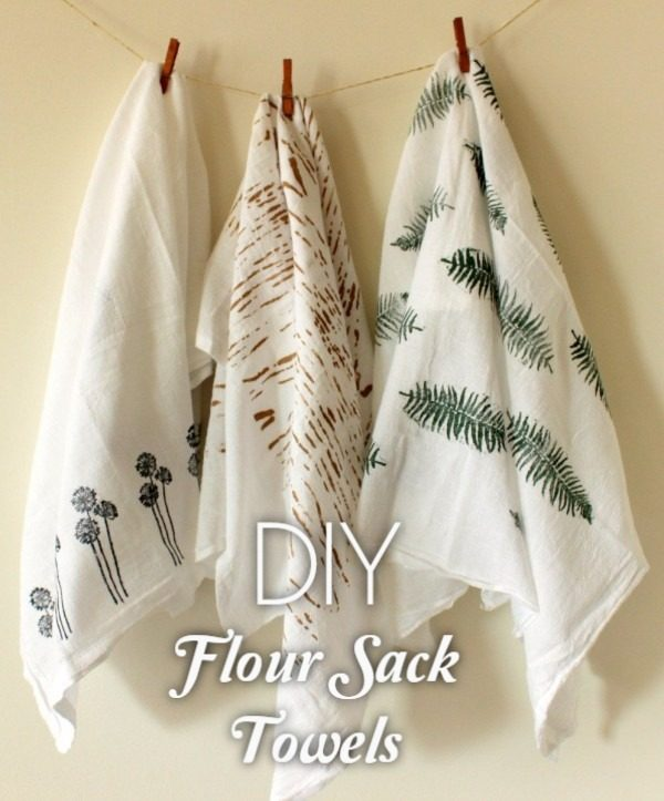 Check out the tutorial on how to make  printed flower sack towels. Looks easy enough!