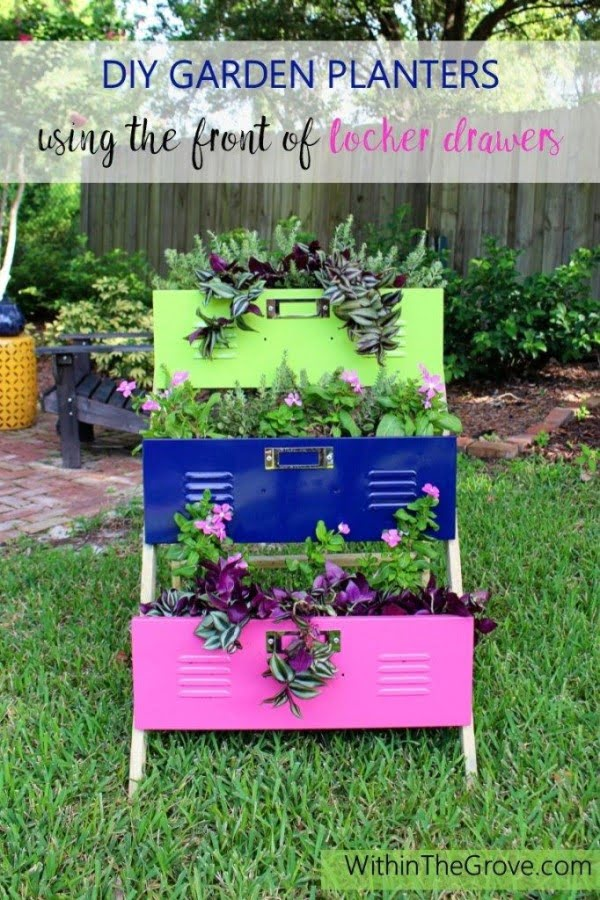 Great idea! Check out the tutorial on how to make a  locker drawer garden planter