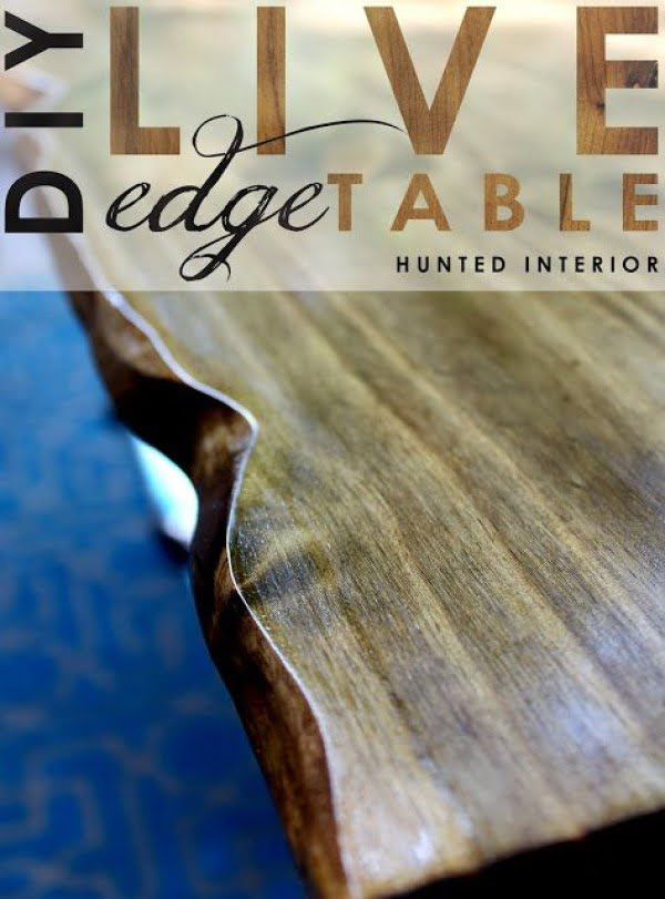 Check out the tutorial on how to make a #DIY live edge table. Looks easy enough! #HomeDecorIdeas