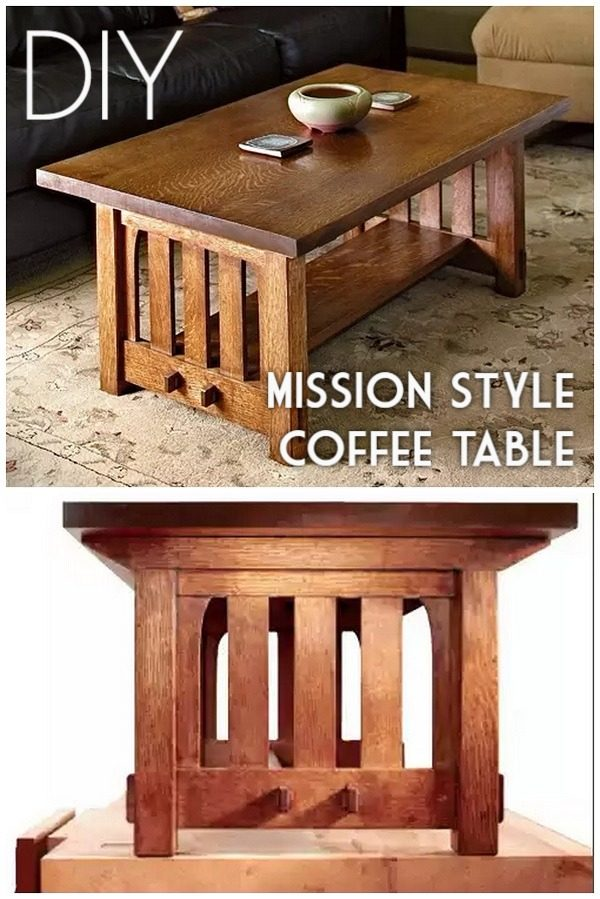 Check out the tutorial on how to make a #DIY mission style coffee table. Looks easy enough! #HomeDecorIdeas