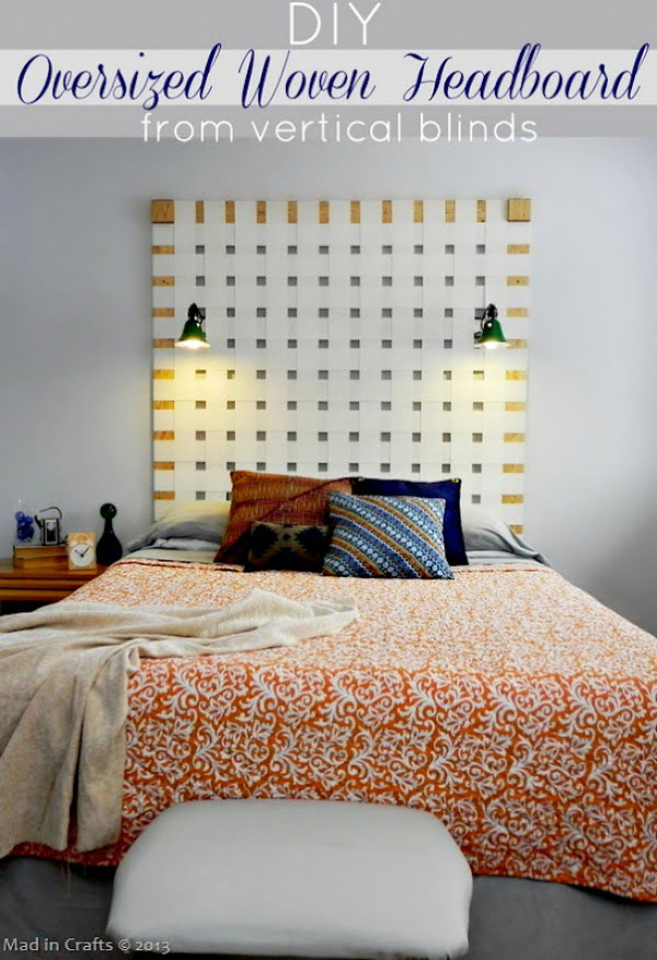 Check out this tutorial on how to make a #DIY oversize woven headboard. Looks easy enough! #BedroomIdeas #HomeDecorIdeas