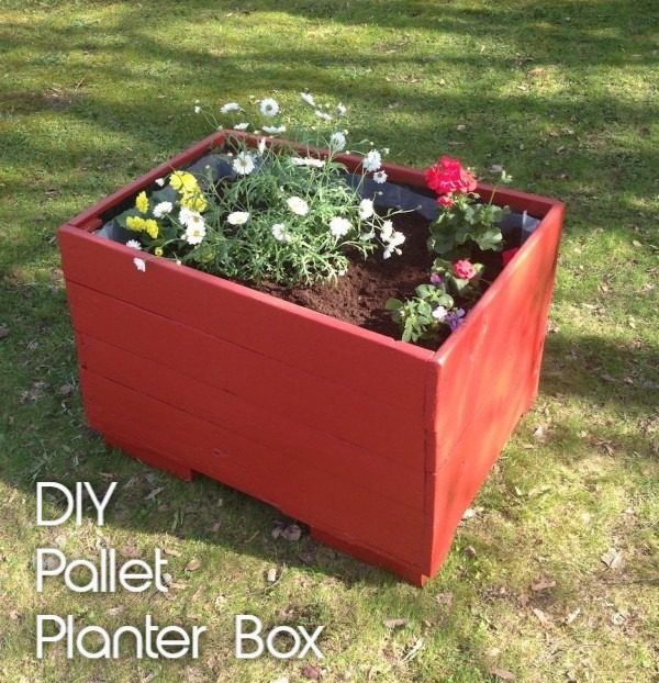 Great idea! Check out the tutorial on how to make a  pallet wood box garden planter