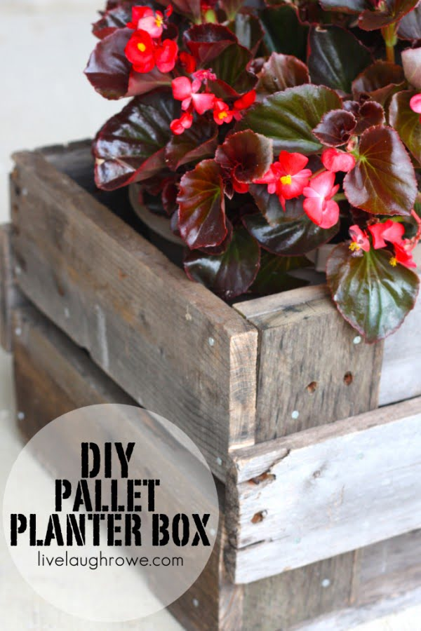 Great idea! Check out the tutorial on how to make a  pallet box garden planter