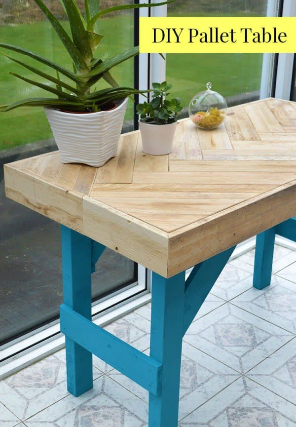 Check out the tutorial on how to make a #DIY pallet wood table. Looks easy enough! #HomeDecorIdeas
