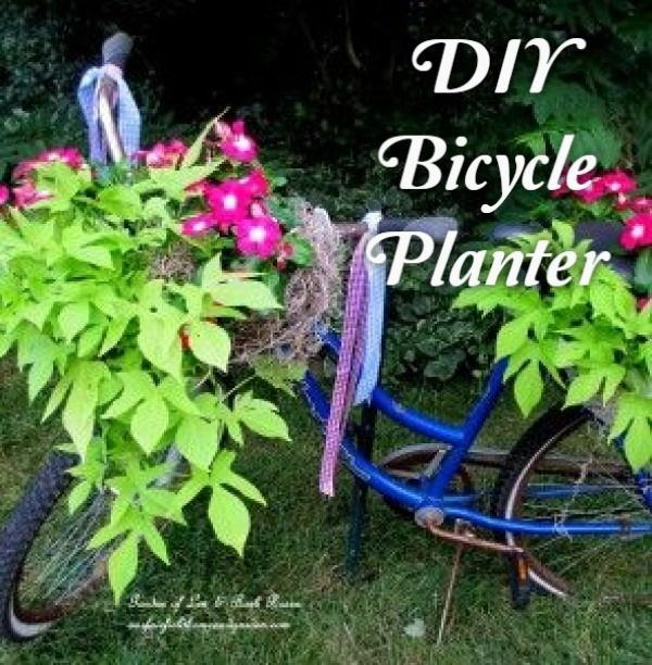 Great idea! Check out the tutorial on how to make a  bicycle garden planter