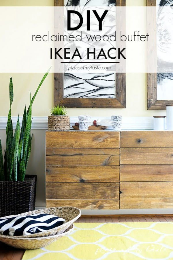 Check out the tutorial on how to make a  reclaimed wood buffet. Looks easy enough!