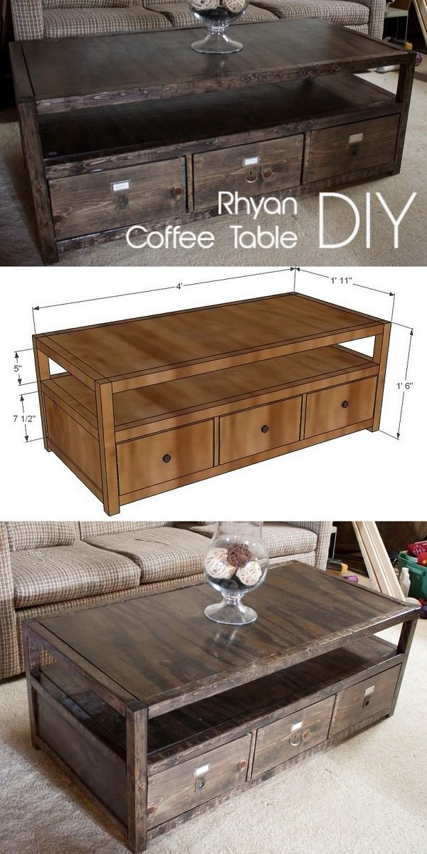 Check out the tutorial on how to make a #DIY Rhyan coffee table. Looks easy enough! #HomeDecorIdeas