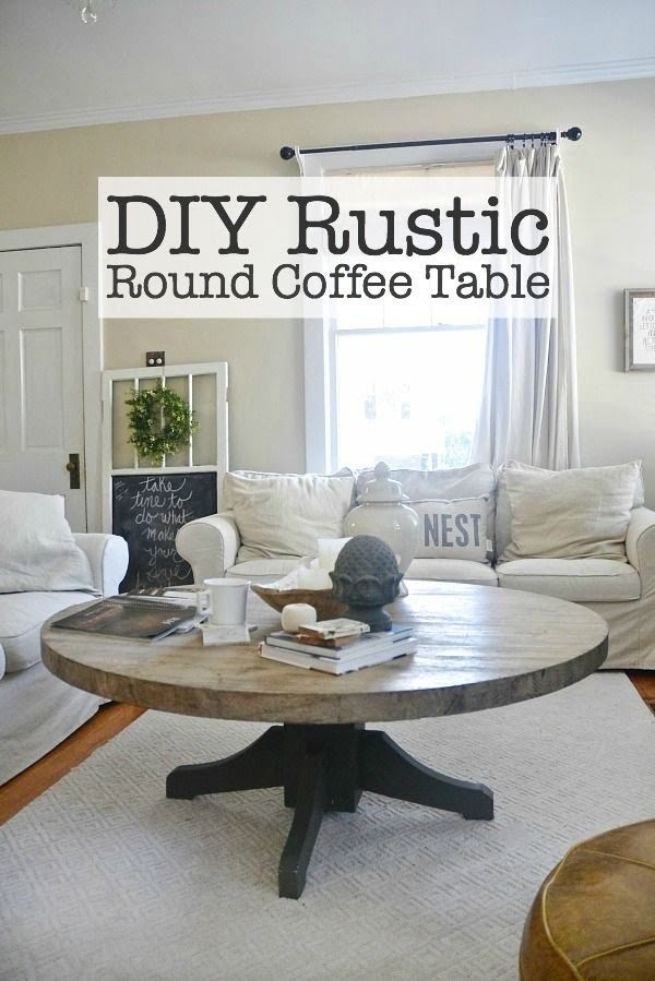 Check out the tutorial on how to make a #DIY #rustic round coffee table. Looks easy enough! #HomeDecorIdeas