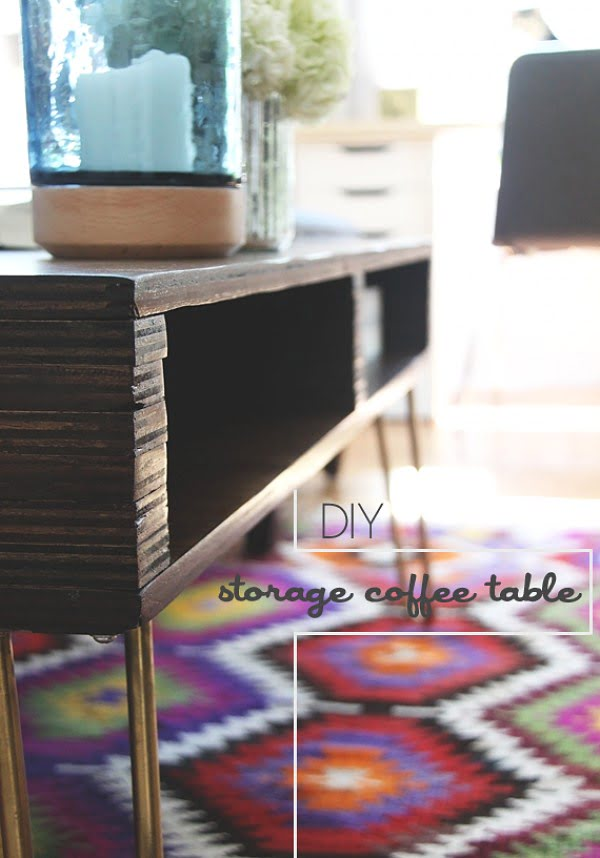 Check out the tutorial on how to make a #DIY storage coffee table. Looks easy enough! #HomeDecorIdeas