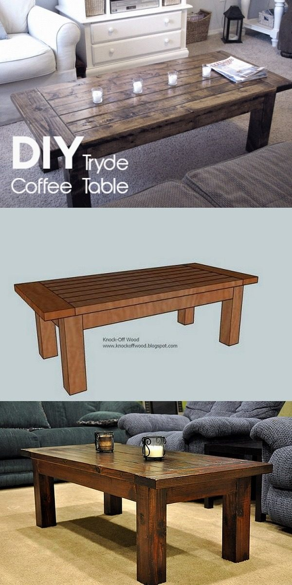 Check out the tutorial on how to make a #DIY tryde coffee table. Looks easy enough! #HomeDecorIdeas