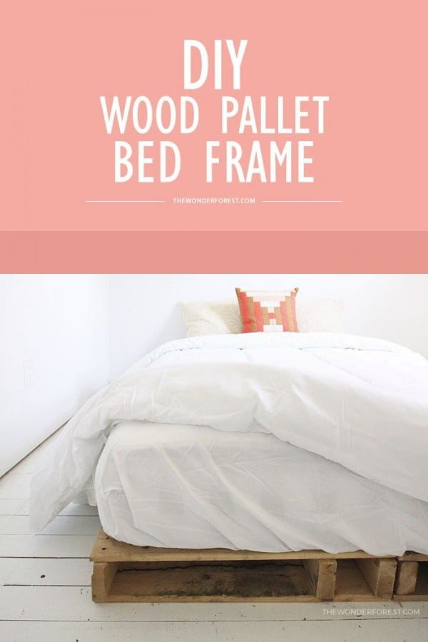 boho style bedroom with a pallet bed