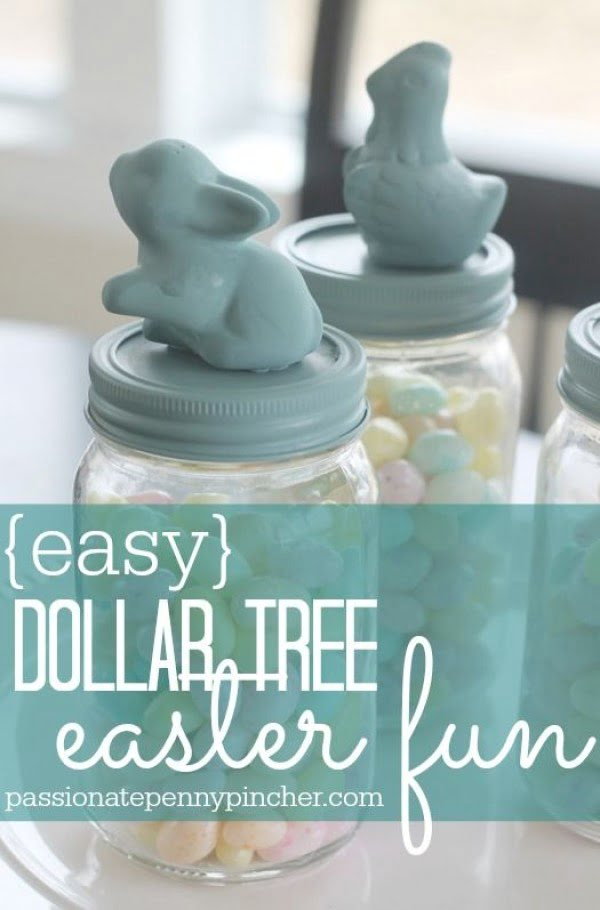Check out this cute  decor idea with Dollar Tree Bunny. Love it!