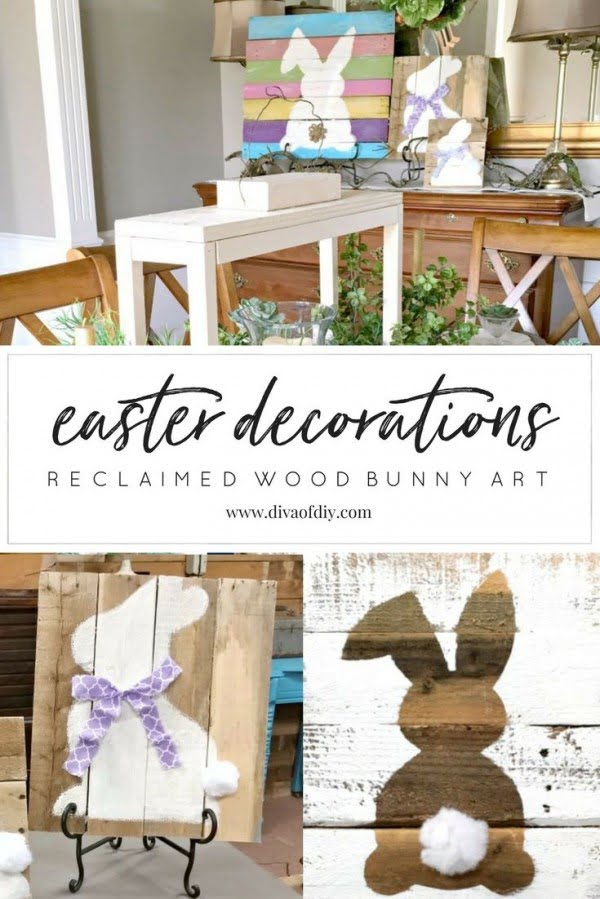 Check out this cute  decor idea with a  Bunny sign. Love it!