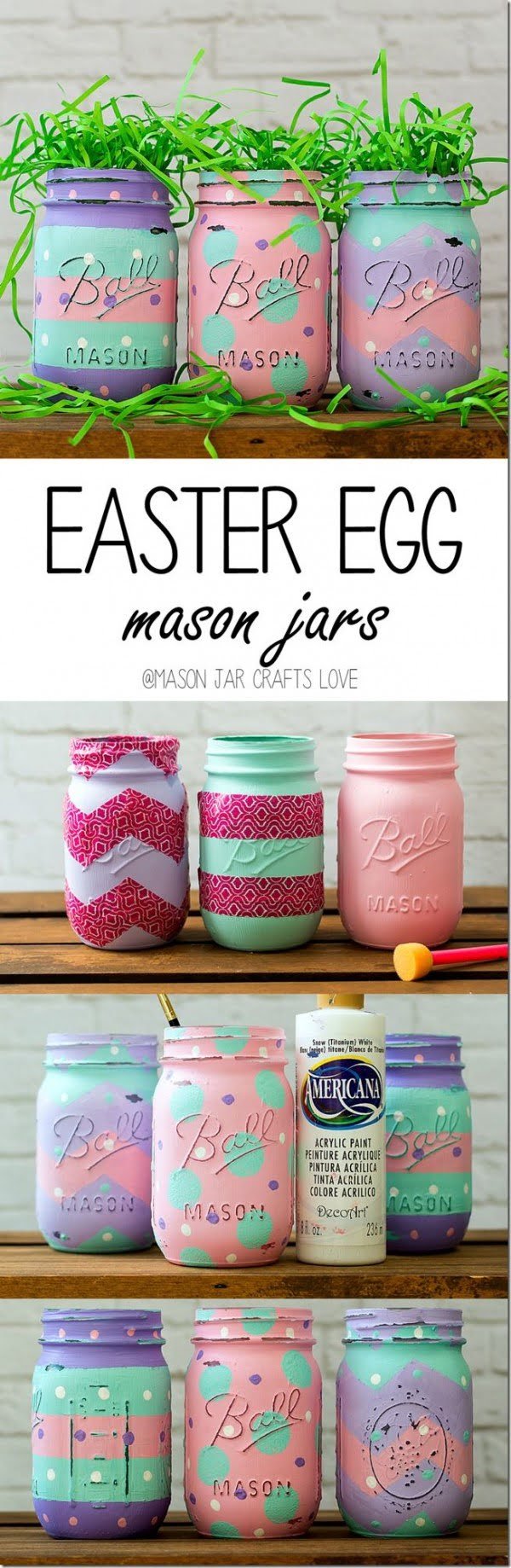Check out this cute  decor idea with mason jars. Love it!
