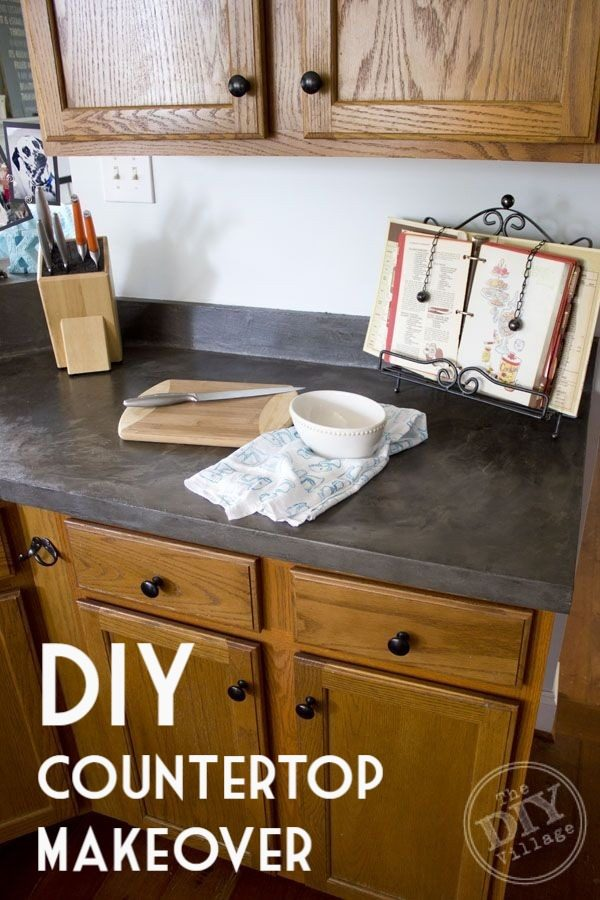 20 Easy Countertop DIY Tutorials to Revamp Your Kitchen - Check out the tutorial on how to make a  kitchen countertop. Looks easy enough!