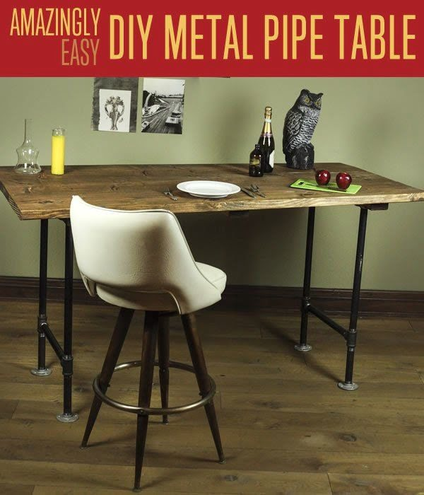 Check out the tutorial on how to make a #DIY #rustic metal pipe table. Looks easy enough! #HomeDecorIdeas