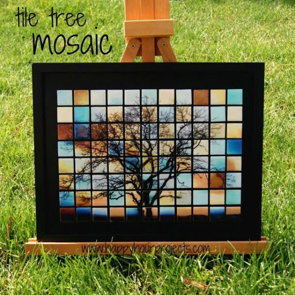 30 Stunning DIY Mosaic Craft Projects for Easy Home Decor - Check out this easy tutorial on how to make a #DIY mosaic wall art. Love it! #HomeDecorIdeas