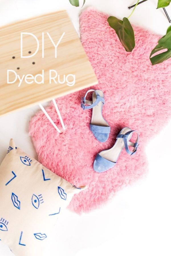 Check out the tutorial on how to make a  dyed rug. Looks easy enough!