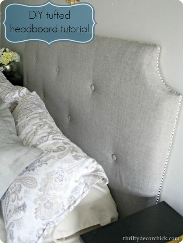 Check out this tutorial on how to make a #DIY tufted headboard. Looks easy enough! #BedroomIdeas #HomeDecorIdeas