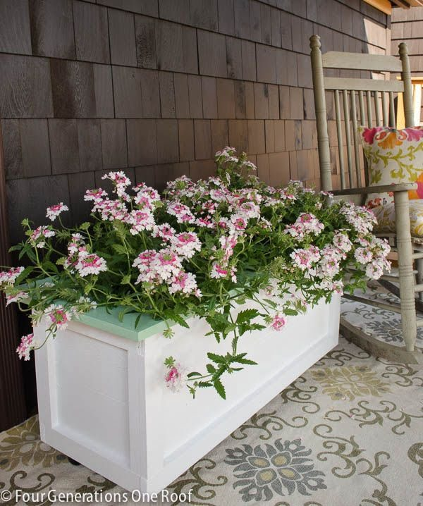 Great idea! Check out the tutorial on how to make a  garden planter on wheels