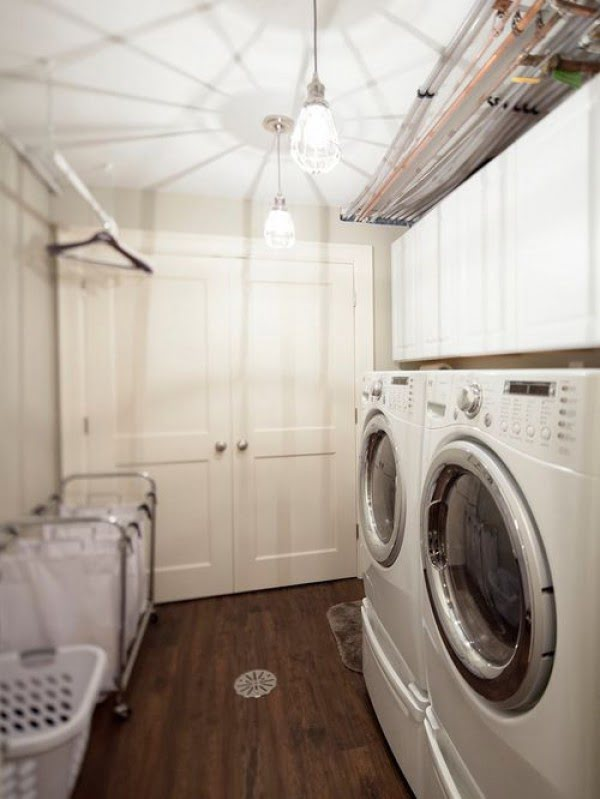 100 Fabulous Laundry Room Decor Ideas You Can Copy - You have to see this laundry room decor idea with mood lighting. Love it!