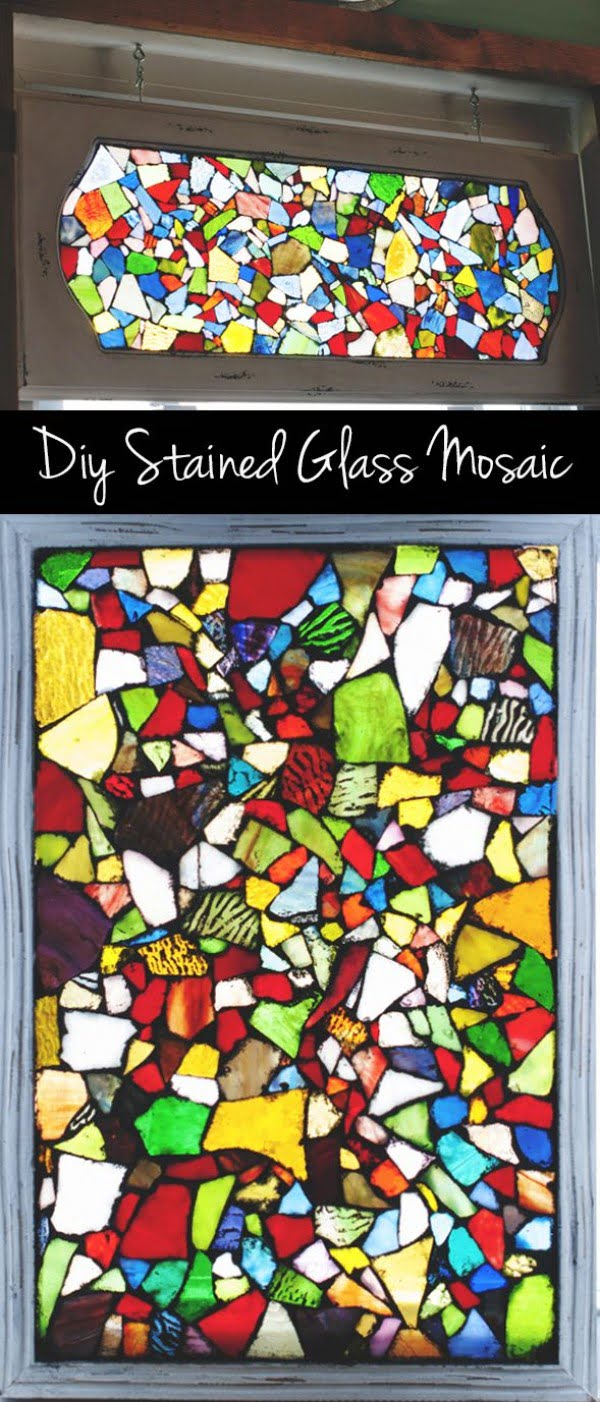 30 Stunning DIY Mosaic Craft Projects for Easy Home Decor - Check out this easy tutorial on how to make #DIY mosaic stained glass windows. Love it! #HomeDecorIdeas