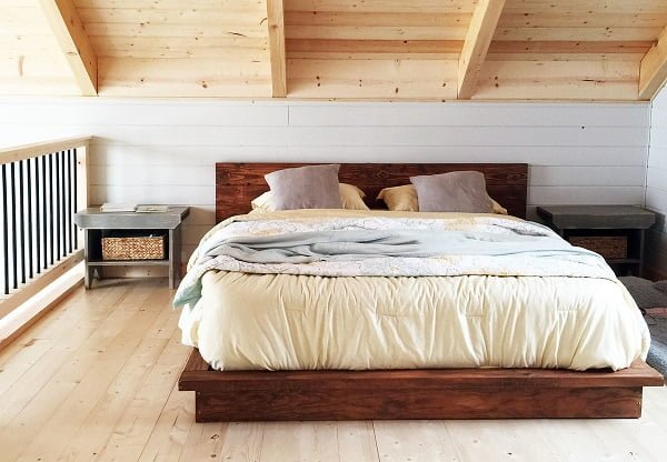 platform bed diy wood 2x4