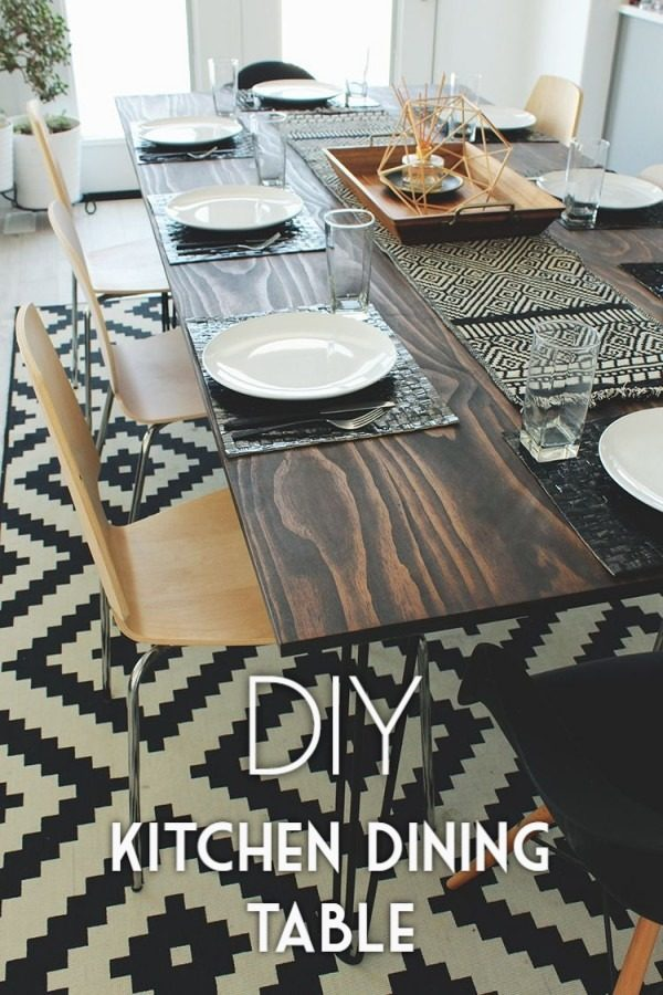 Check out the tutorial on how to make a #DIY kitchen dining table. Looks easy enough! #HomeDecorIdeas
