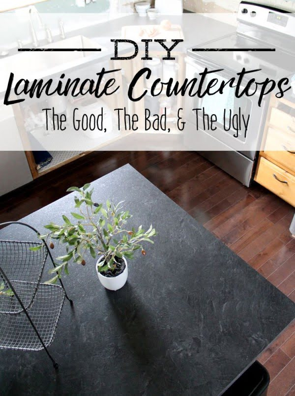 20 Easy Countertop DIY Tutorials to Revamp Your Kitchen - Check out the tutorial on how to make a  laminate kitchen countertop. Looks easy enough!