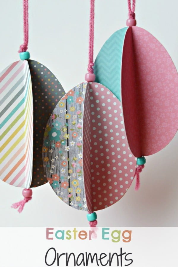 Check out this cute  decor idea with Easter egg ornament. Love it!