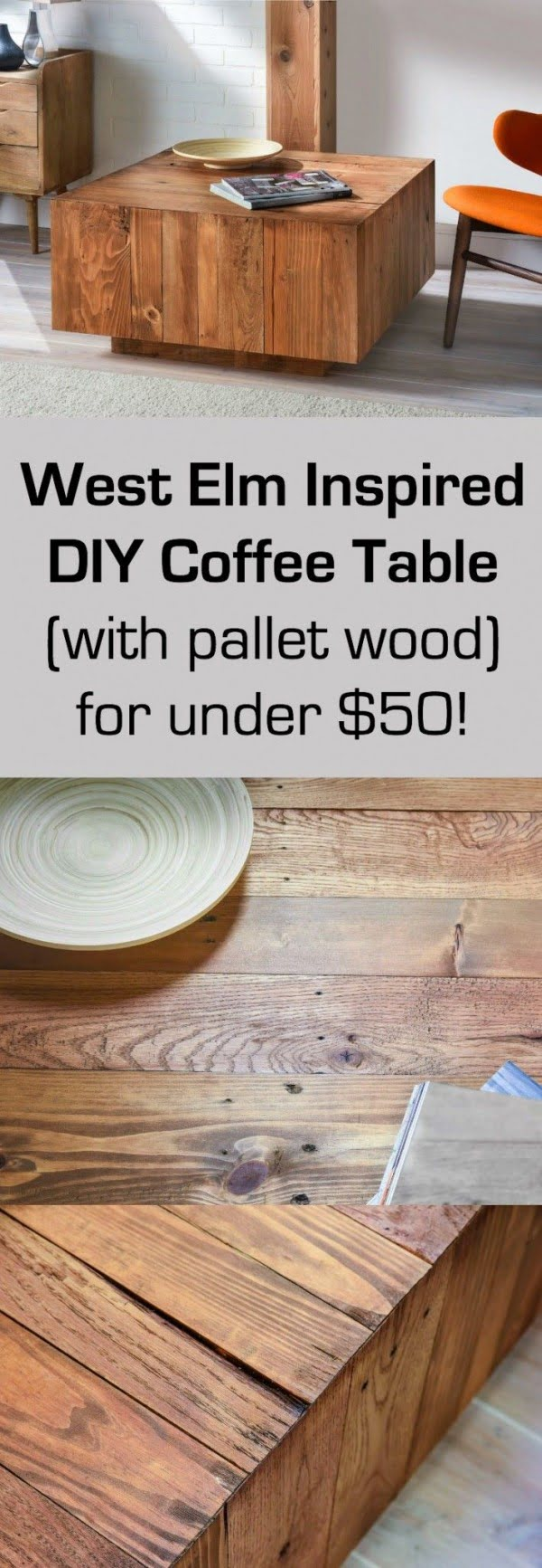 Check out the tutorial on how to make a #DIY West Elm inspired coffee table. Looks easy enough! #HomeDecorIdeas