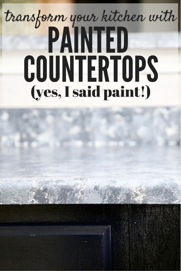 20 Easy Countertop DIY Tutorials to Revamp Your Kitchen - Check out the tutorial on how to make a  painted kitchen countertop. Looks easy enough!