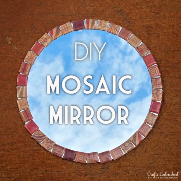 30 Stunning DIY Mosaic Craft Projects for Easy Home Decor - Check out this easy tutorial on how to make a #DIY mosaic mirror. Love it! #HomeDecorIdeas