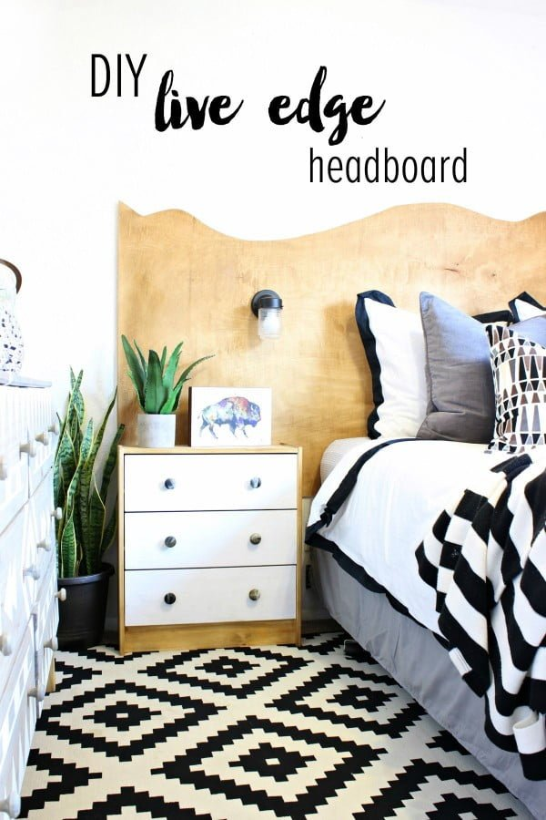 Check out this tutorial on how to make a #DIY live edge headboard. Looks easy enough! #BedroomIdeas #HomeDecorIdeas
