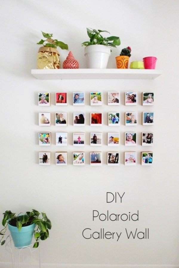 Check out the tutorial on how to make  Polaroid gallery wall. Looks easy enough!